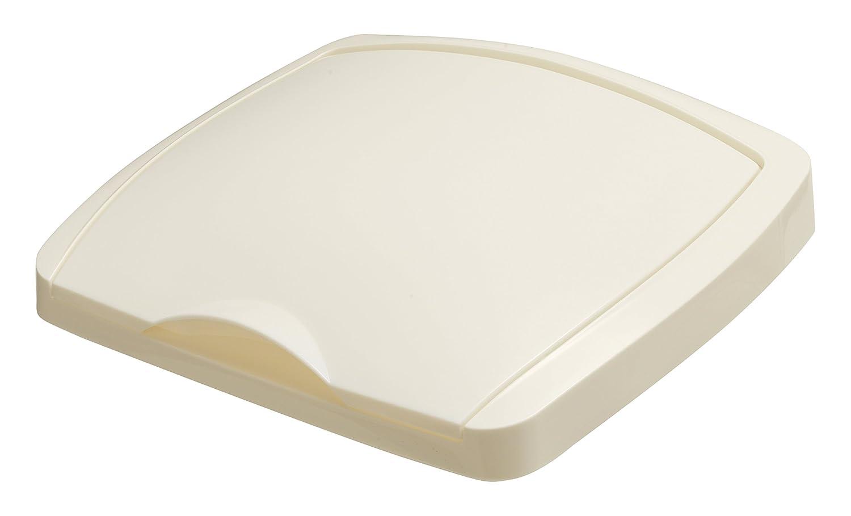 50L Lift Top Bin Lid - Linen-Cream
