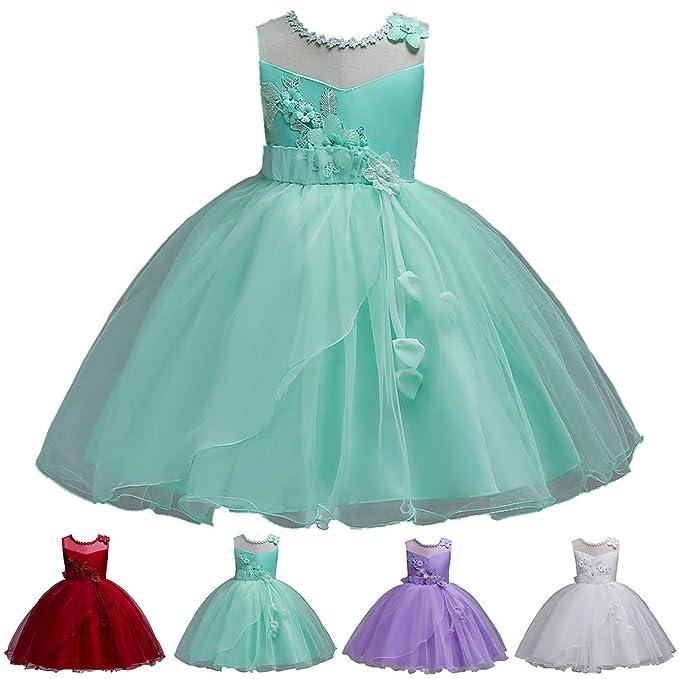 8d2a65858 Yonimu 3-12 años Vestido de Fiesta para niñas y niños Princesa navideña  Vestidos de Alto Rendimiento Vestido de Novia Ropa para niños Niños   Amazon.es  Ropa ...