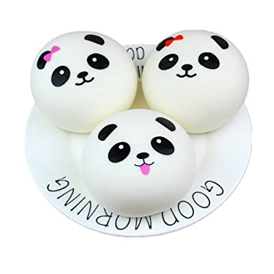 Xuways Random Bun Squishies, Cute Panda Bun Cream Scented Squishies Slow Rising Kids Toys Doll, Simulation Animal Toy for Birthday Gift, Collection, Stress Relief, Decorative Props Large: Toys & Games