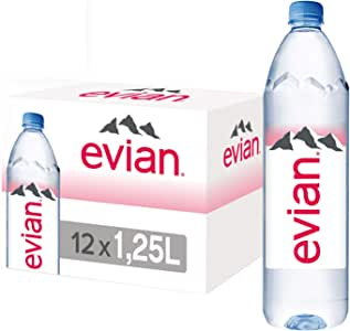 Evian Natural Mineral Water, 6 x 1.25L