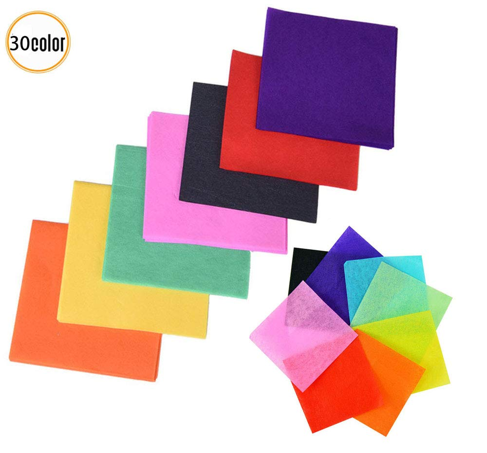 3000 Sheets Tissue Paper Squares DIY Colorful Gift Tissue Paper for Art Craft Scrunch Art Kids Craft DIY 1.96 x 1.96 inch 30 Assorted Colors
