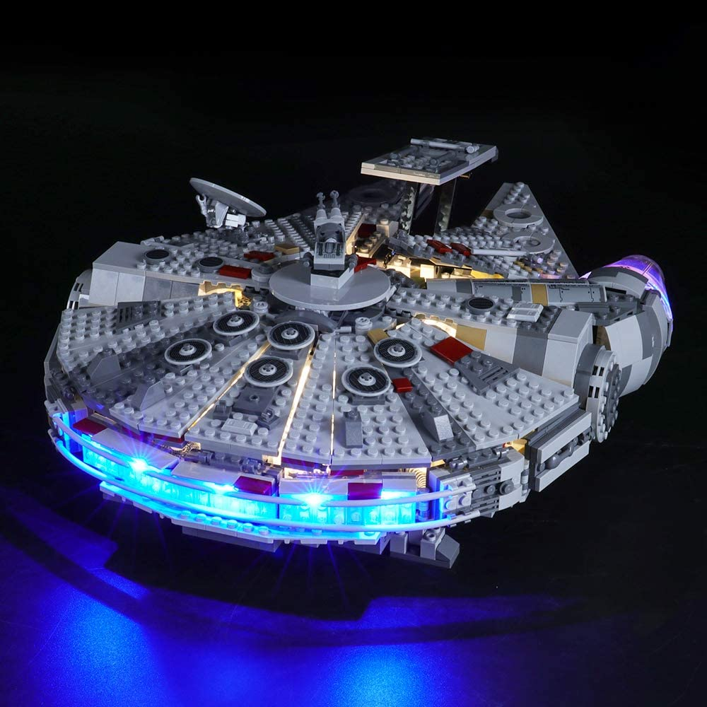 Amazon Com Briksmax Led Lighting Kit For Millennium Falcon Compatible With Lego 75257 Building Blocks Model Not Include The Lego Set Toys Games