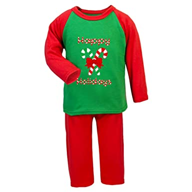 31374a691 Christmas Xmas Pyjamas Happy Holidays Boys Girls Pyjamas: Amazon.co.uk:  Clothing