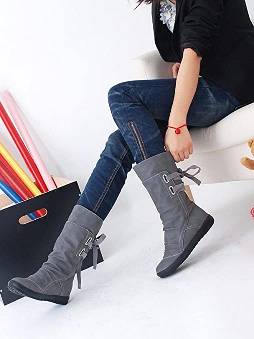 c3dd1a18b2 Image Unavailable. Image not available for. Color  Hemlock Teen Ladies Flat  Boots Shoes Winter Snow Boots Winter Boots Womens ...