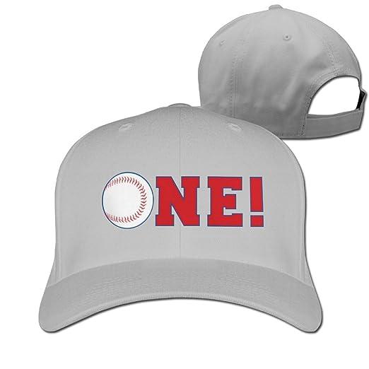 Baseball First Birthday Adjustable CapsTrucker Hat