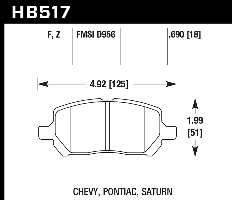 Hawk Performance HB517F.690 HPS Performance Ceramic Brake Pad