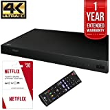 LG UP870 4K Ultra-HD Blu-Ray Player 3D with 3 Free Months of Netflix Service And 1 Year Extended Warranty