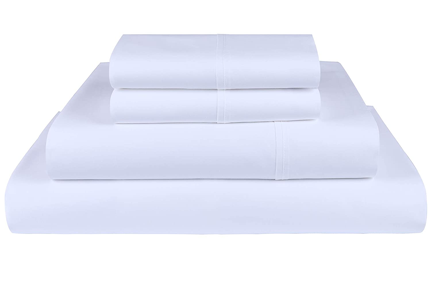 Threadmill Home Linen 800 Thread Count 100% ELS Cotton Sheet Set,Twin Sheets, Luxury Bedding, Twin Sheets 3 Piece Set, Smooth Sateen Weave, White bed sheets Bed Sheets Review: Best bed sheets on the market today 61fwANz6J7L