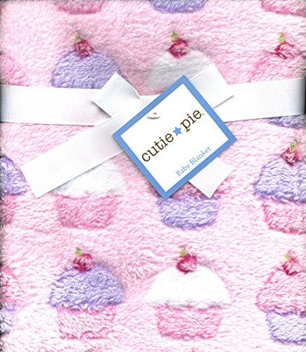 Cupcakes Plush Girls Baby Blanket Pink (Cupcake Cutie)