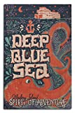 Lantern Press Whidbey Island - Giant Pacific Octopus - Deep Blue Sea - Spirit of Adventure (12x18 Wood Wall Sign, Wall Decor Ready to Hang)