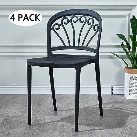 Sedie Moderne In Plastica.Mimi King Un Insieme Di 4 Sedie Moderne Di Modo Schienale Di