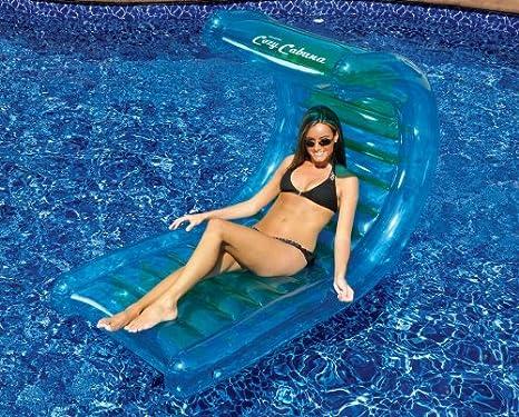 Amazon Com Deluxe Cabana Inflatable Pool Lounge Float Garden