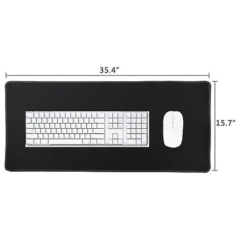 Cmhoo XXL - Alfombrilla profesional de gran tamaño y para juegos de ordenador para ratón, 90x40 Black, 35.4x15.7x0.1IN: Amazon.es: Hogar
