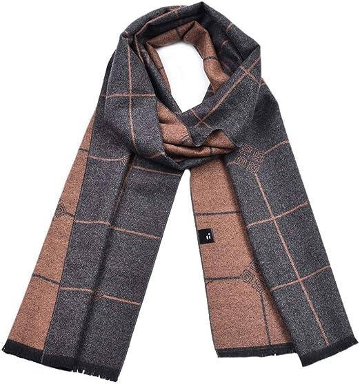 Bufandas para hombre Bufanda gruesa de algodón a cuadros gruesos ...