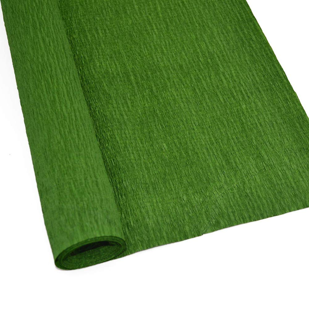 P14 Dark Green ZQNYCY Crepe Paper Rolls for Flower Making Wrapping Craft Birthday Party Christmas Decorations 2 Rolls