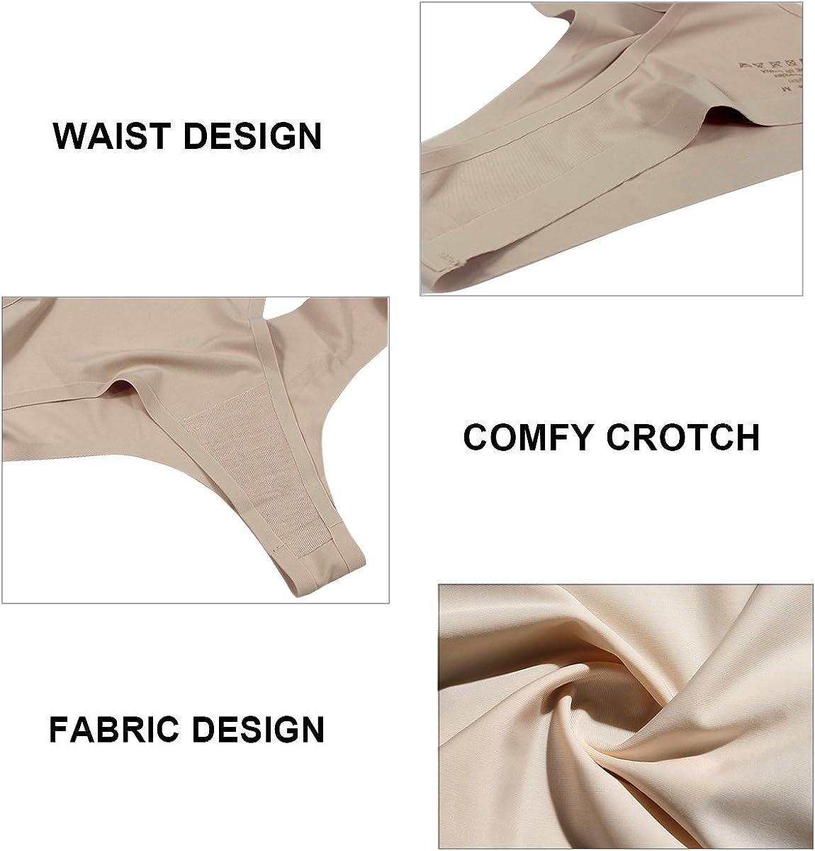 Dokpav Womens Underwear Seamless Thong Panties No Show T Back Thongs Tanga 6 Pack