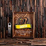 Personalized Bottle Cap Shadow Box with Free Stainless Steel Bottle Opener
