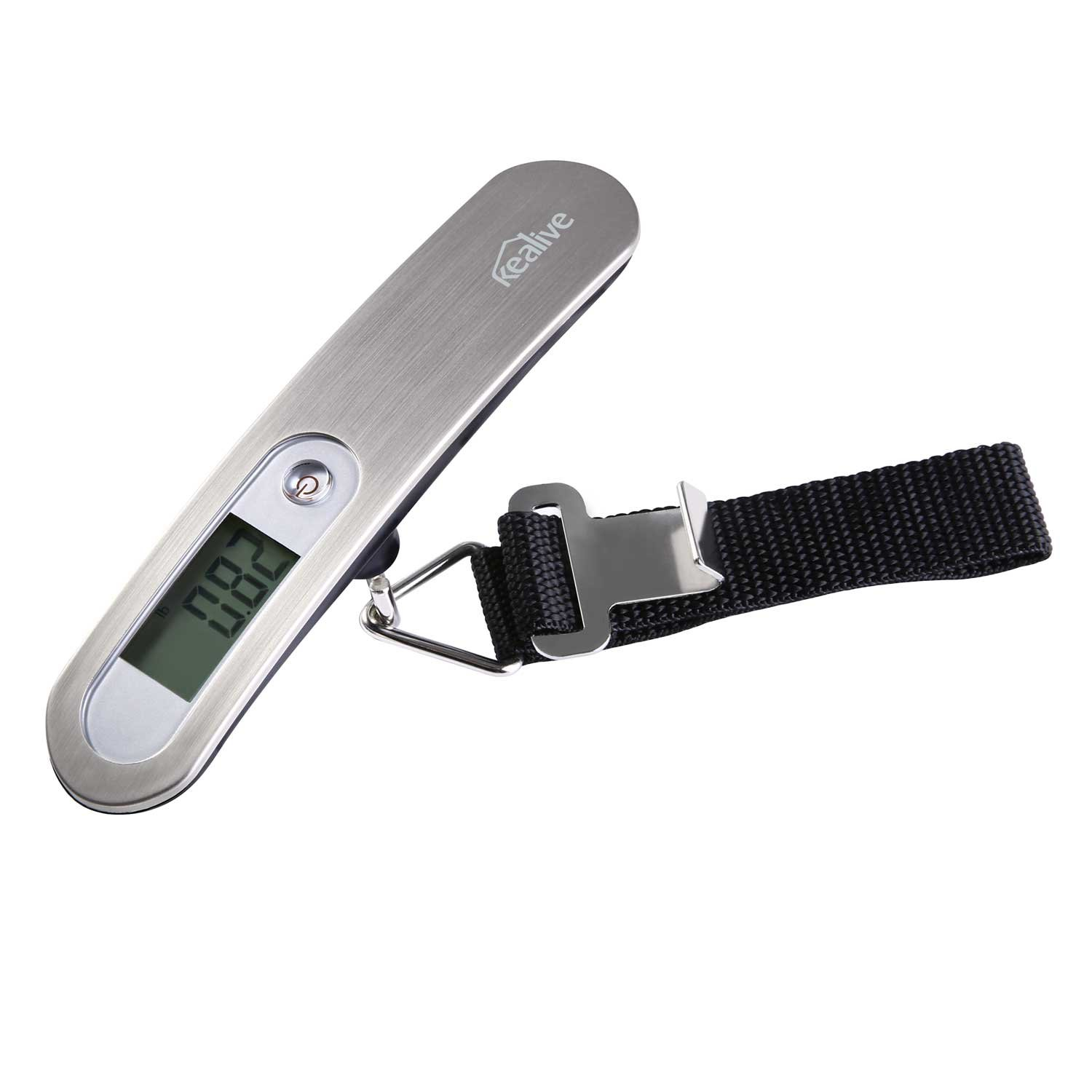 Kealive Luggage Scale, Digital Hanging Luggage Scale for Traveler, 0.02lb High-accuracy Reading, Auto-off, Unit Convertible, 110lb Max Weight Capacity, Battery Included