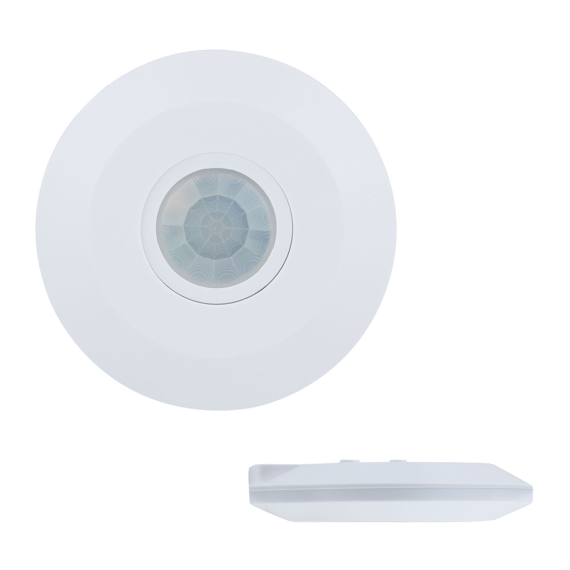 J.LUMI YCA1050 PIR Based Motion Detector, Ceiling Occupancy Sensor, 1'' Slim Profile, 360 Degree Detection, PIR Motion Sensor (85-265V AC, 2000W)