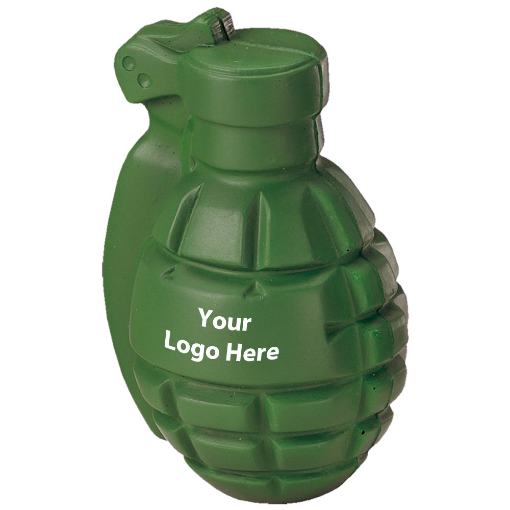 Grenade Stress Reliever - 150 Quantity - $2.60 Each - PROMOTIONAL PRODUCT / BULK / BRANDED with YOUR LOGO / CUSTOMIZED