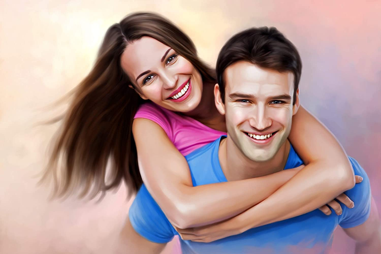 Amazon Com Custom Portrait Painting Oil Painting Couple Two Figure Hand Painted Portrait Painting Photo To Painting Paintings We've rounded up cute couple captions for your next instagram post with 70 adorable and relatable instagram captions for couples' photos. hand painted portrait painting
