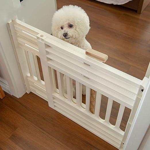 Barrera seguridad Rejilla para mascotas extra ancha para perros Perros Barrera de bebé para puertas Pasillo de la escalera, puertas de seguridad interiores ajustables en blanco, 61-94 cm de ancho Bara: Amazon.es: