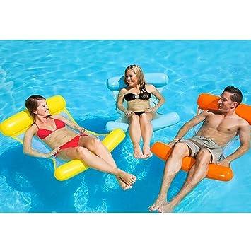 Hamaca flotante para piscina, cómoda tumbona para piscina, hamaca de agua, compacta y