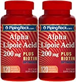 Alpha Lipoic Acid 200 mg plus Biotin Optimizer 2 Bottles x 120 Capsules