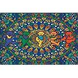 Surreal Entertainment Grateful Dead Bears Micro Rachel Fleece Throw Blanket, Approx. 50 quot; x 60 q