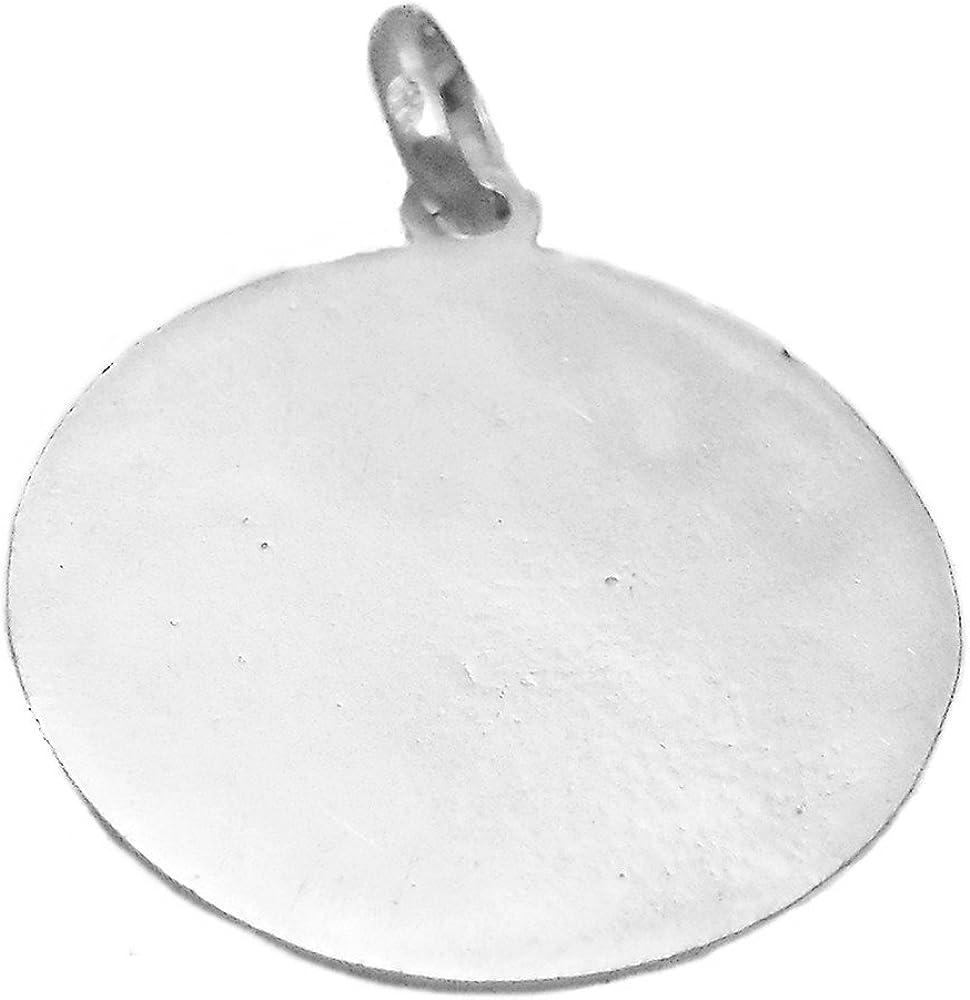 Unisexe demi-buste M/édaille pendentif Argent 925m Vierge Immacul/ée de la loi de 26mm