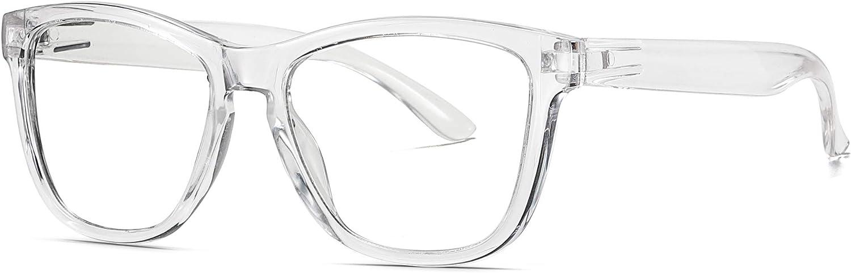 Skevic Gafas de Lectura Anti Luz Azul Gafas Presbicia Hombre Mujer Antifatiga Filtro Protección Azul UV - Gafas Ordenador para PC, Gaming, Tablet, TV, Videojuegos Lentes Transparentes (Transparente)