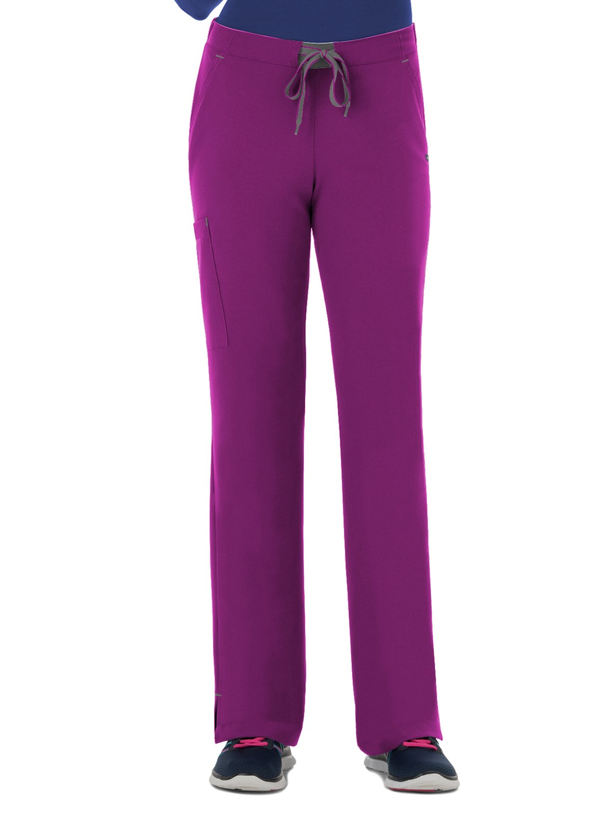 Modern Fit Collection by Jockey Women's Convertible Drawstring Scrub Pant X-Large Plumberry Wine