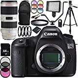 Canon EOS 5DSR DSLR Camera with EF 70-200mm f/2.8L IS II USM Lens 27PC Accessory Bundle - Includes 64GB Memory Card + MORE