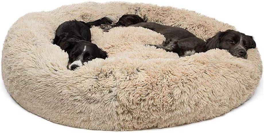 Lrhps Mascotas Cama Donut,Cama calmante para Perros y Gatos,para Perros y Gatos supergrandes pequeños y medianos