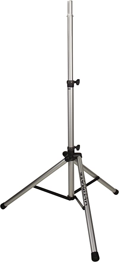 Ultimate Support TS-8S Original Series Aluminum Tripod Speaker Stand with  Integrated Speaker Adapter