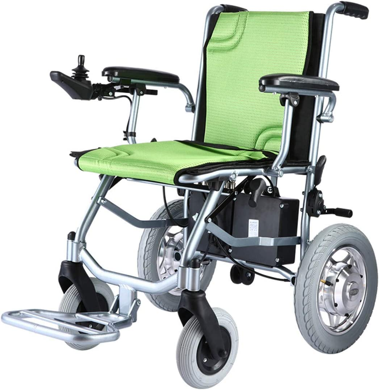 Control de Doble Silla de Ruedas eléctrica Todoterreno versión con batería de Ancianos discapacitados aleación de Aluminio de Viaje