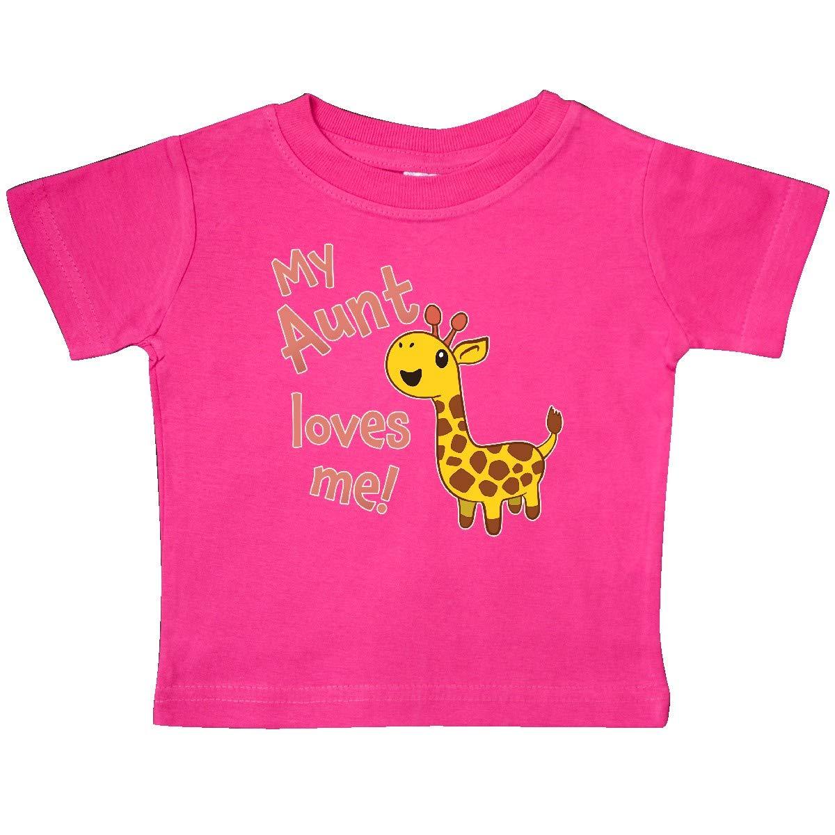 inktastic My Aunt Loves Me Cute Giraffe Baby T-Shirt