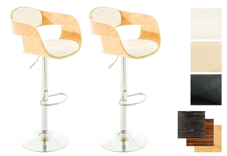 Set sgabelli da bar kingston regolabile legno e metallo