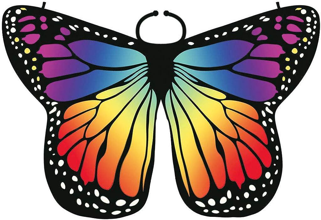Gr/ün Orange Pink Blau Lila Gelb Damen Elegante Schmetterlingsfl/ügel Erwachsene Bunte Schmetterling Fl/ügel Frauen Karneval Umhang Zubeh/ör Fasching Accessories Frauen Cloak Butterfly Wings