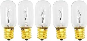 5 Replacement Light Bulbs for LG LMV2031ST, LG LMV1683ST, LG LMHM2237ST, LG LMV2031BD, LG LMV1813ST, LG LMH2235ST, LG LMV1831ST, LG LMV1680ST, LG LMHM2017ST, LG LMV2031SW, LG LMH2016ST