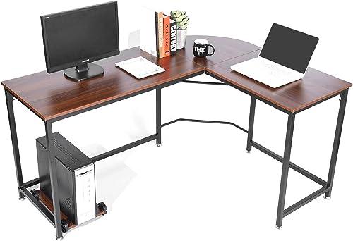 SimLife Reversible L-Shaped Desk Modern Corner Computer Desk