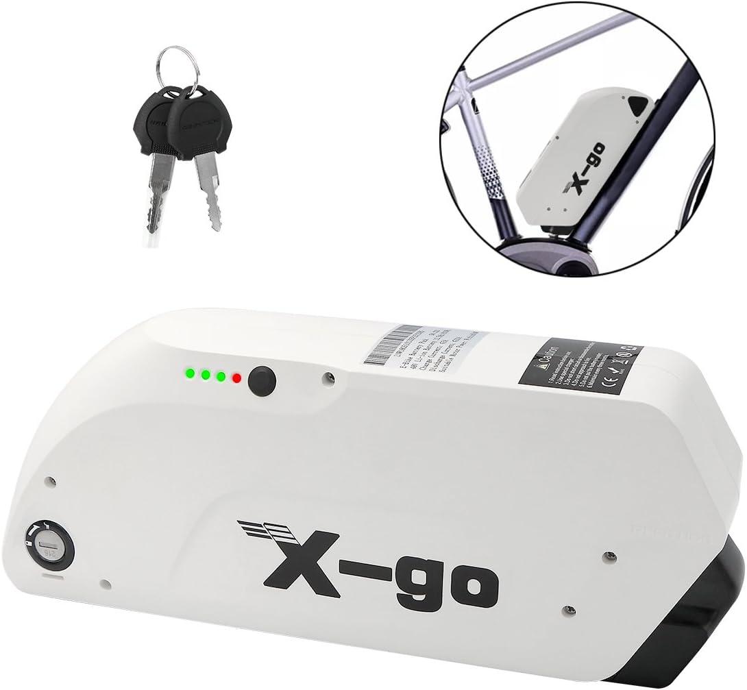 X-go Batería de Bicicleta Eléctrica 48V 12AH Batería para ...