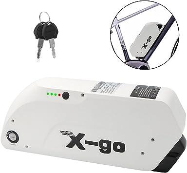 X-go Batería eléctrica para bicicleta, 48 V, 12 Ah, batería para ...