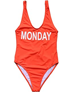 87d205a96ff MOSHENGQI Women Solid Color Backless Cut Out Swimsuit Monokini Swimwear