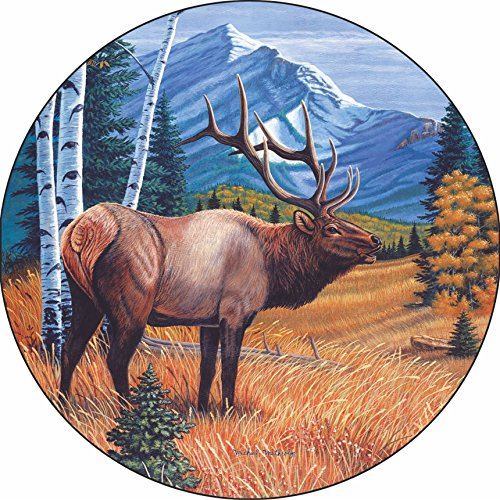 Elk Caretaker Spare Tire Cover for Jeep RV Camper and more (Select from popular sizes in drop down menu or contact us-ALL SIZES AVAILABLE) …