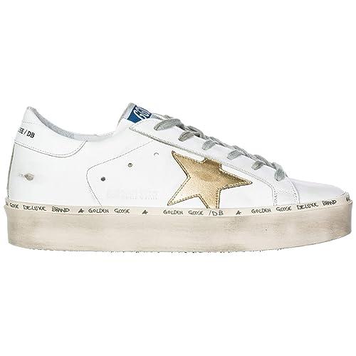 Golden Goose Zapatos Zapatillas de Deporte Mujer en Piel hi Star Blanco: Amazon.es: Zapatos y complementos
