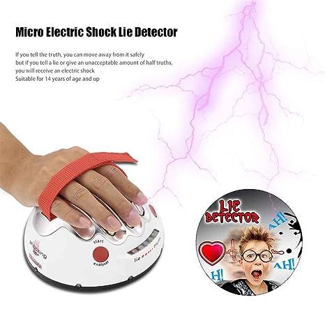 Vkospy Polígrafo impactante Liar Micro Descarga eléctrica Detector de mentiras la Verdad del Juego del Juguete