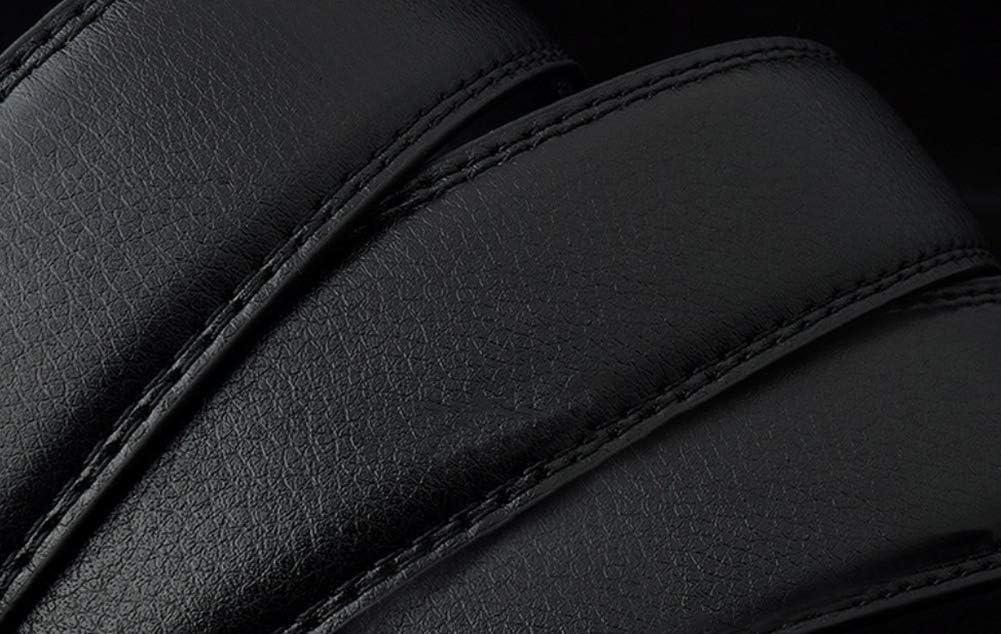WDOIT Cintura Semplice Nero Belt Fur Pelle da Uomo PU 120/* 4/cm Style-2 120 * 4cm Regolabile Automatico Fibbia