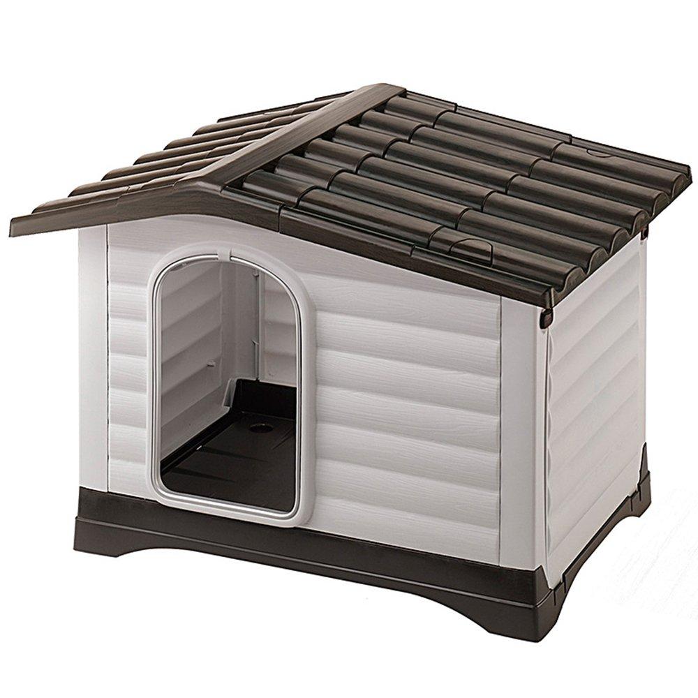 Feplast Caseta de Exterior para Perros Dogvilla Panel Lateral Que Se Puede
