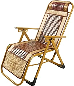 BH Deckchairs Chaise Longue Chaise Longue in Bamboo Folding Chair Lunch Break Simple Laptop